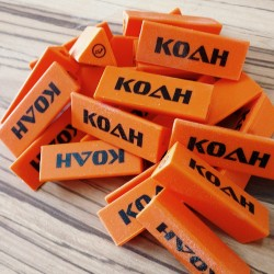 Image from Koah Soft 2PC Triangle Spear Shaft Tip Protector - Orange