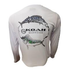 Image from Koah Spearfishing X-DRI Performance Shirt - Wahoo/Mahi White