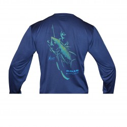 Image from Koah Spearfishing X-DRI Performance Shirt - Bluewater Tuna