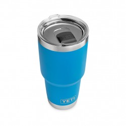 Image from YETI Tahoe Blue 30 OZ Rambler Tumbler with MagSlider Lid