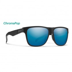 Image from Smith Lowdown Polarized ChromaPop Sunglasses (Men's) - Matte Black/Blue Mirror