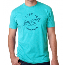 Image from Speared 'Life is Spearfisihing' Tee - Tahiti