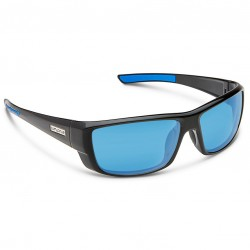 Image from Suncloud Lock Polarized Polycarbonate Sunglasses - Black/Blue Mirror