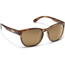 Image from Suncloud Loveseat Polarized Polycarbonate Sunglasses (Women's) - Tortoise/Sienna Mirror