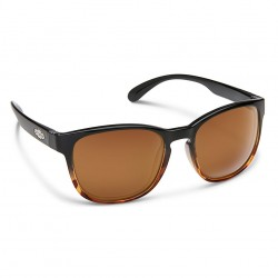 Image from Suncloud Loveseat Polarized Polycarbonate Sunglasses (Women's) - Black Tortoise/Brown