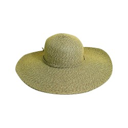 Image from Dorfman Pacific Big Brim Paper-Braid Sun Hat (Women's ) - Coffee/Black