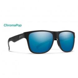 Image from Smith Lowdown XL ChromaPop™ Polarized Sunglasses (Men's) - Matte Black/Blue Mirror