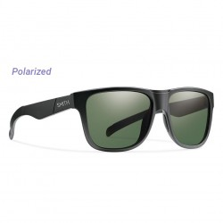 Image from Smith Lowdown XL Polarized Carbonic Sunglasses (Men's) - Matte Black/Gray Green