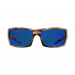 Image from Pelagic The Mack Sunglasses - Oak Frames with Cobalt Lenses