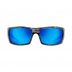 Image from Pelagic The Mack Sunglasses - Silverwood Frames with Ocean Mirror Lenses