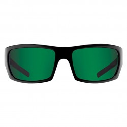 Image from Pelagic The Mack Sunglasses - Glossblack Frame & Green Mirror Lens