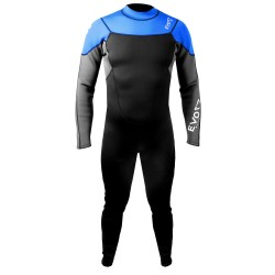 Image from EVO Elite 3mm Super-Stretch Full Scuba Wetsuit (Men's) - Blue - Front