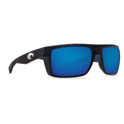 Image from Costa MOTU Sunglasses with Blue Mirror 580 Glass Lenses and Black Teak Frame