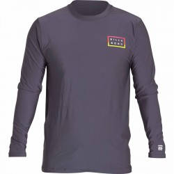 Image from Billabong Die Cut Loose Fit LS Wetshirt - Charcoal - Front