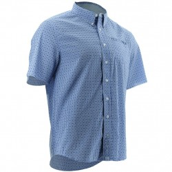 Image from Huk Santiago Hybrid Button-Down +30 UPF Short-Sleeve Shirt (Men's)