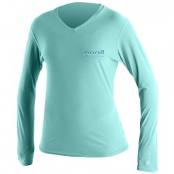 Image from O'Neill 24/7 Tech V-Neck +30 UPF Long-Sleeved Rashguard (Women's)