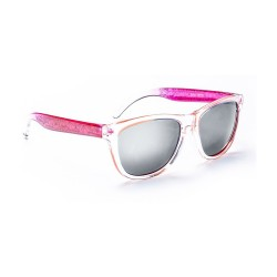 Image from One Hopscotch Kids Sunglasses - Clear Crystal with Pink