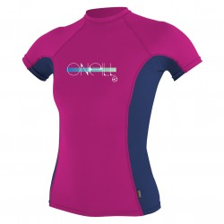 Image from O'Neill Basic Skins +50 UV Short Sleeved Rashguard (Girl's)