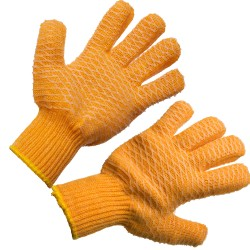 Image from orange lobstering gloves