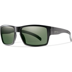 Image from Smith Outlier XL Sunglasses - Matte Black Frames with Chromapop Gray Green Lens