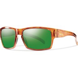 Image from Smith Outlier XL Polarized Men's Sunglasses with Honey Tortoise Frames and Green Lenses