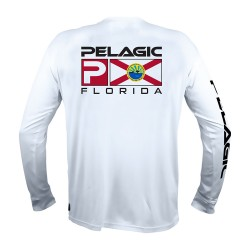 Image from PELAGIC Florida Flag AquaTek UPF 50+ Long-Sleeve Sunshirt (Men's)