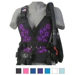 Image from Zeagle Zena Scuba BCD Floral Front Panels
