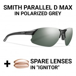 Image from Smith's Parallel D Max Polarized Sunglasses (Men's) - Matte Black/Gray
