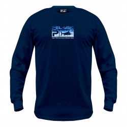 Image from Pelagic Deluxe Logo Pattern Long-Sleeved Tee