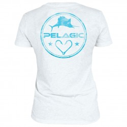 Image from Pelagic Women's Logo V-neck Tee