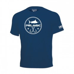 Image from Pelagic Waterman Tee Navy - Front