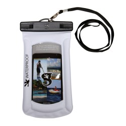 Image from Gecko Float Phone Dry Bag White - Front