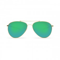 Image from Costa Piper Green Mirror 580P Polarized Polycarbonate Sunglasses - Shiny Gold