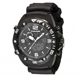 Image from Freestyle Precision 2.0 Digital/Analog Dive Watch - Black