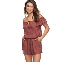 Image from Roxy Western Holiday Cold Shoulder Romper (Women's)