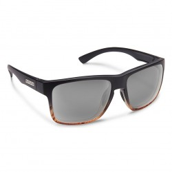 Image from Suncloud Rambler Polarized Polycarbonate Sunglasses (Unisex) - Black Tortoise Fade/Gray