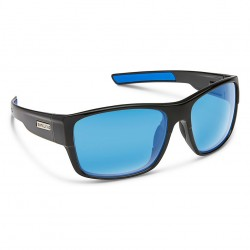 Image from Suncloud Range Polarized Polycarbonate Sunglasses - Black/Blue Mirror