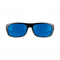 Image from Pelagic Razer Fish Sunglasses - Matte Black Frames with Blue Mirror Glass Lenses