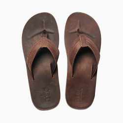 Image from Reef Leather Contoured Cushion Sandals (Men's)