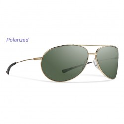 Image from Smith Rockford Polarized Carbonic Sunglasses (Men's) - Matte Gold/Gray Green