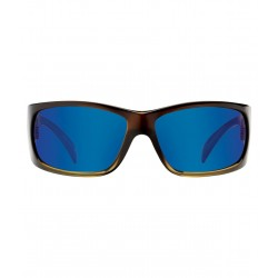 Image from Pelagic Twin Diesel Sunglasses - Rootbeer Frames with Cobalt Mirror Lenses