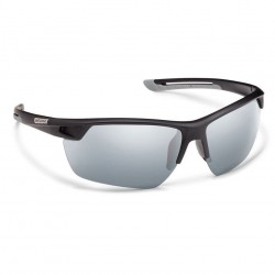 Image from Suncloud Contender Polarized Polycarbonate Sunglasses -  Black/Silver Mirror