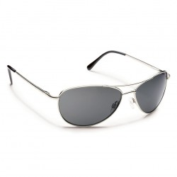 Image from Suncloud Patrol Polarized Polycarbonate Sunglasses - Silver/Gray