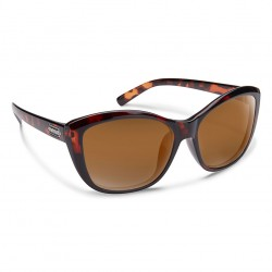 Image from Suncloud Skyline Polarized Polycarbonate Sunglasses (Women's) - Tortoise/Brown
