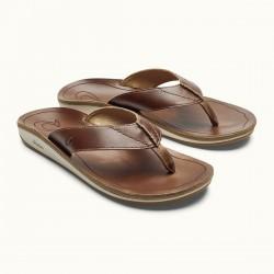 Image from OluKai Nohono 'Ili Leather Sandals (Men's)