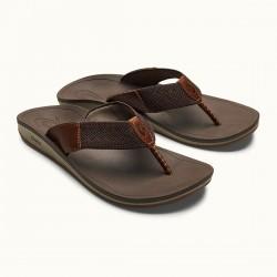 OluKai Nohona Ulana Leather Sandals (Men's)