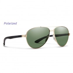 Image from Smith Salute Polarized Carbonic Sunglasses (Women's) - Matte Gold/Gray Green