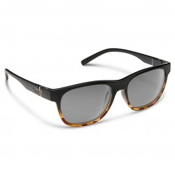 Image from Suncloud Scene Polarized Polycarbonate Sunglasses - Black Tortoise Fade/Gray