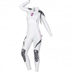 Image from ScubaPro 3/2 MM Everflex Rear-Zip Full Steamer Wetsuit (Women's)