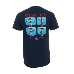Image from Duck Co. Scuba Talk T-Shirt (Men's) - Navy Blue